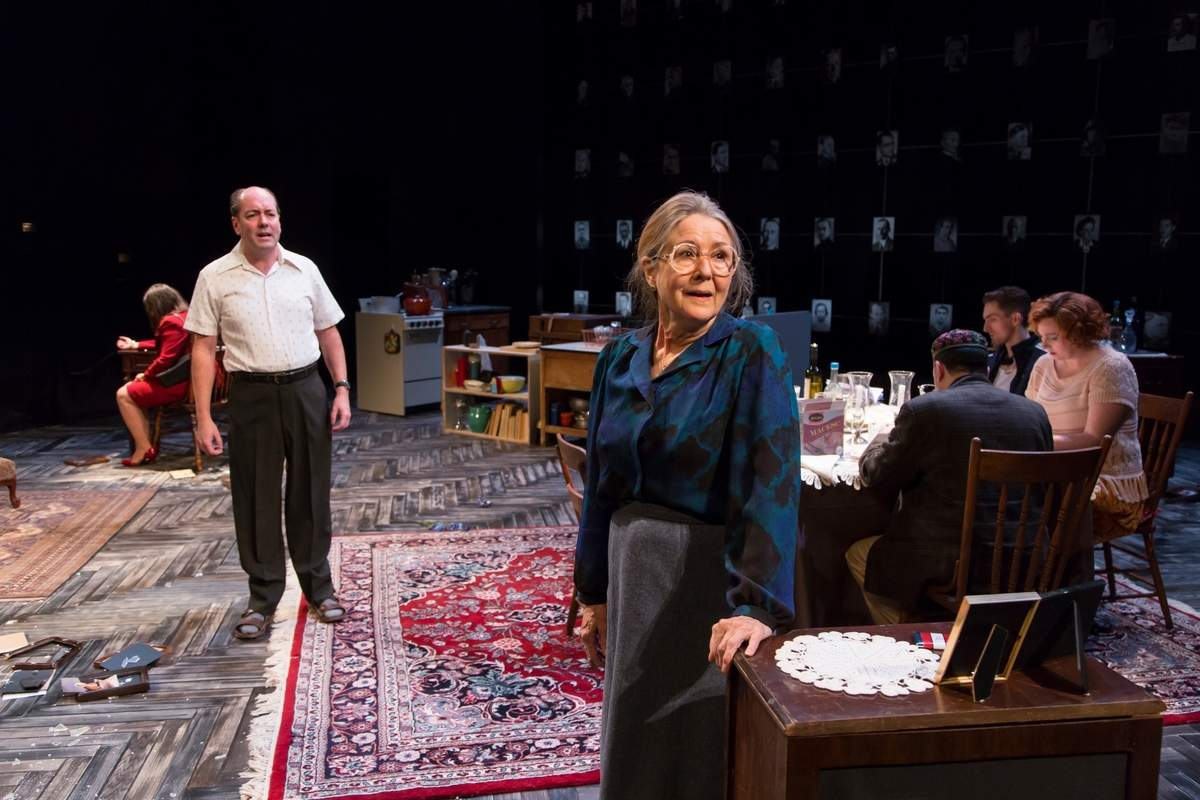 Liam Craig and Mia Dillon in Seder at Hartford Stage Photo by T. Charles Erickson