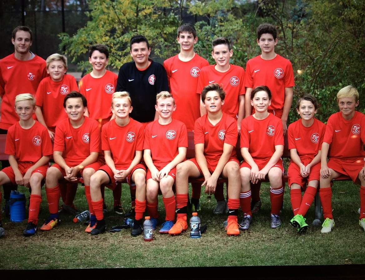 Pictured from the Valley Soccer Club's U-15 boys' classic travel squad are (front row) Mason Soboleski, Jake Burdick, Ben Costanzo, Hayden Lombardi, Simon Partyka, Tyler Ruel, Jackson Rock, Holden Soboleski; along with (back row) Coach Connor McWade, Jake McKenna, Jack Finnegan, Ian Silva, Andrew Salbinski, Michael Kollmer, and Sam Hutchinson. Missing from the photo are Simon Collins and Luca Angelini. Photo courtesy of Molly Lombardi