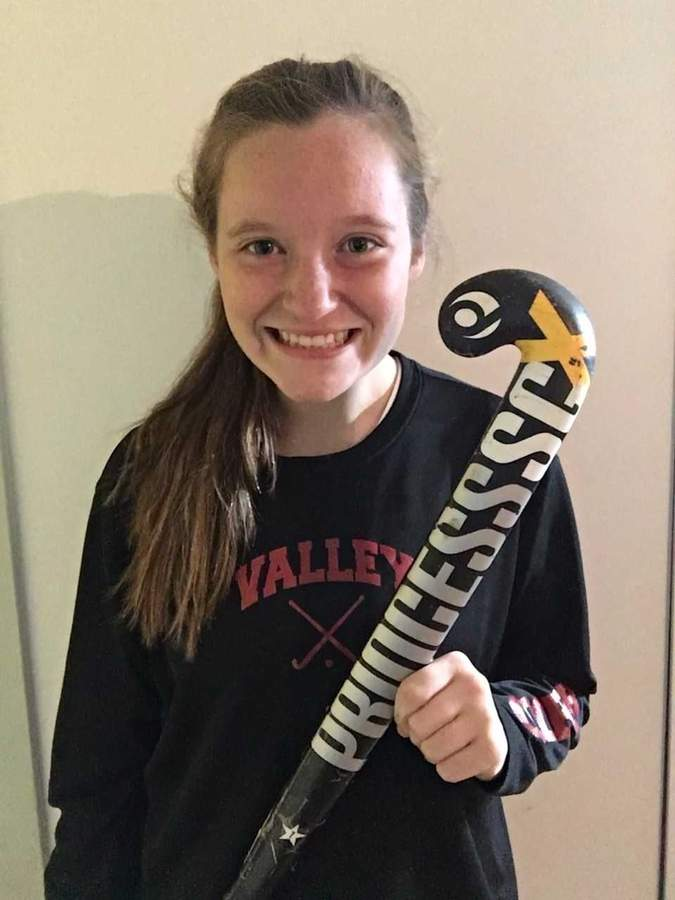 Annie Cooper scored an outstanding goal against North Branford in the Shoreline Conference final to highlight her junior season as an all-around asset for the Valley Regional field hockey squad. Photo courtesy of Annie Cooper