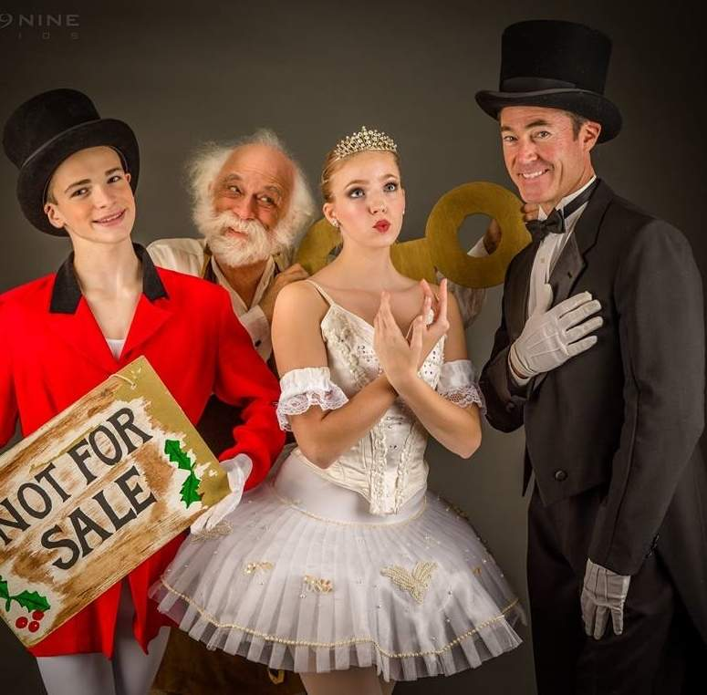 Shown here with cast members on the production's feature poster, Branford's Laurent Mullen (far right) brings his talent to Starship Dance Theatre's The Magic Toyshop holiday dance production, coming to East Haven High School on Dec. 2 and Dec. 3.  Photo by Super 9 Studios