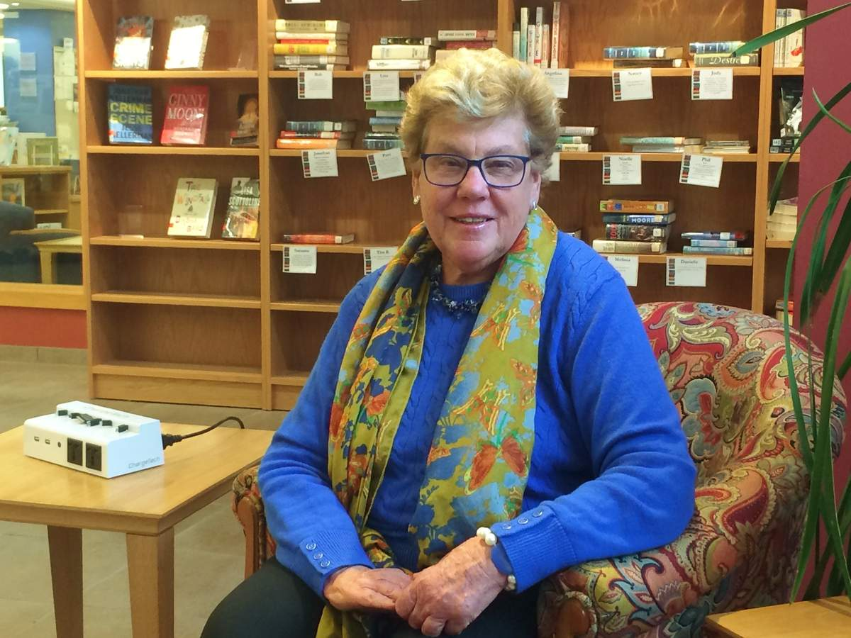 After decades of successful leadership, Sandra Ruoff retires as Guilford Free Library director on Nov. 30 and begins her new role as a selectman for the town of Guilford on Dec. 4. Photo by Pam Johnson/The Courier
