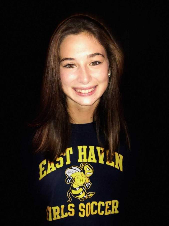 After putting together a solid season on defense for East Haven's girls' soccer squad this fall, Molly Mazzucco is eager to begin her final go-round as a standout high jumper with Yellowjackets' track. Photo courtesy of Molly Mazzucco