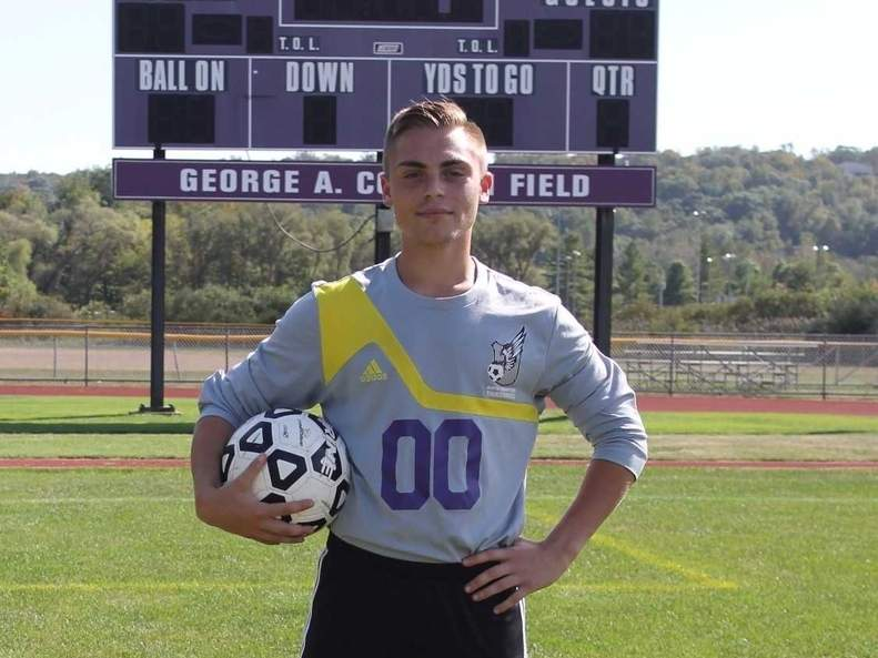 Senior goalkeeper Paul Zumbo earned All-Shoreline Conference Second Team honors and was also named the Most Valuable Player for the North Branford boys' soccer team this fall. Photo courtesy of Traci Houde