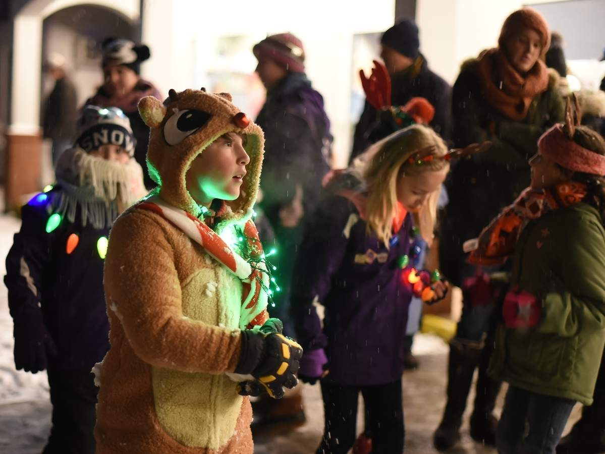 Old Saybrook Holds Torchlight Parade Despite Snow