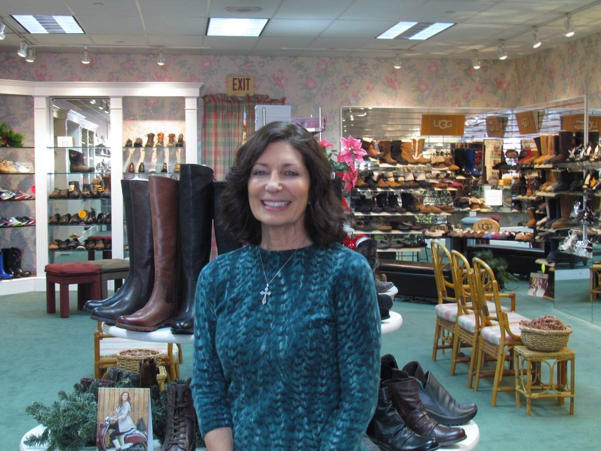 On Jan. 31, 2018, Carol Cornachini will end 31 years in business as the proprietor of Branford's Shoetique to fully take on her new venture as owner of IM=X Pilates Studio in North Branford. The Branford resident will also continue her part-time role as school nurse with St. Mary's School in town. Photo by Pam Johnson/The Sound