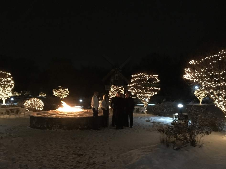 Enjoying a warm outdoor Christmas fire during a cold December night is something special. Photo courtesy of Captain Morgan