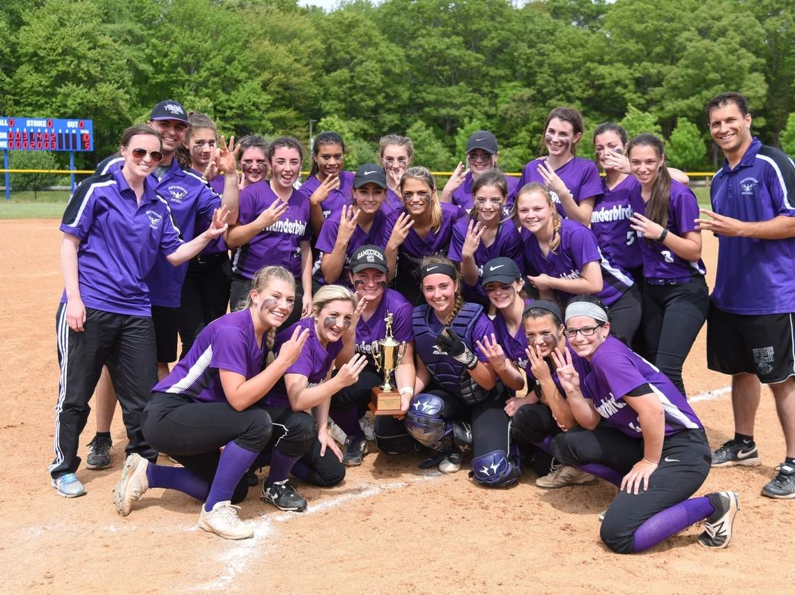 The North Branford softball team made the spring of 2017 a special one by claiming its third straight Shoreline Conference title with a 10-5 victory over Hale-Ray in the league championship game. Photo by Kelley Fryer/The Sound