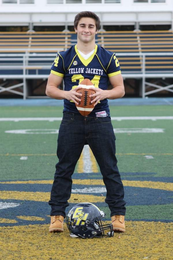 Senior Andrew Luzzi took on a leadership role with the East Haven football team this fall and helped get the youthful Yellowjackets ready for the future. Photo courtesy of Melissa Luzzi