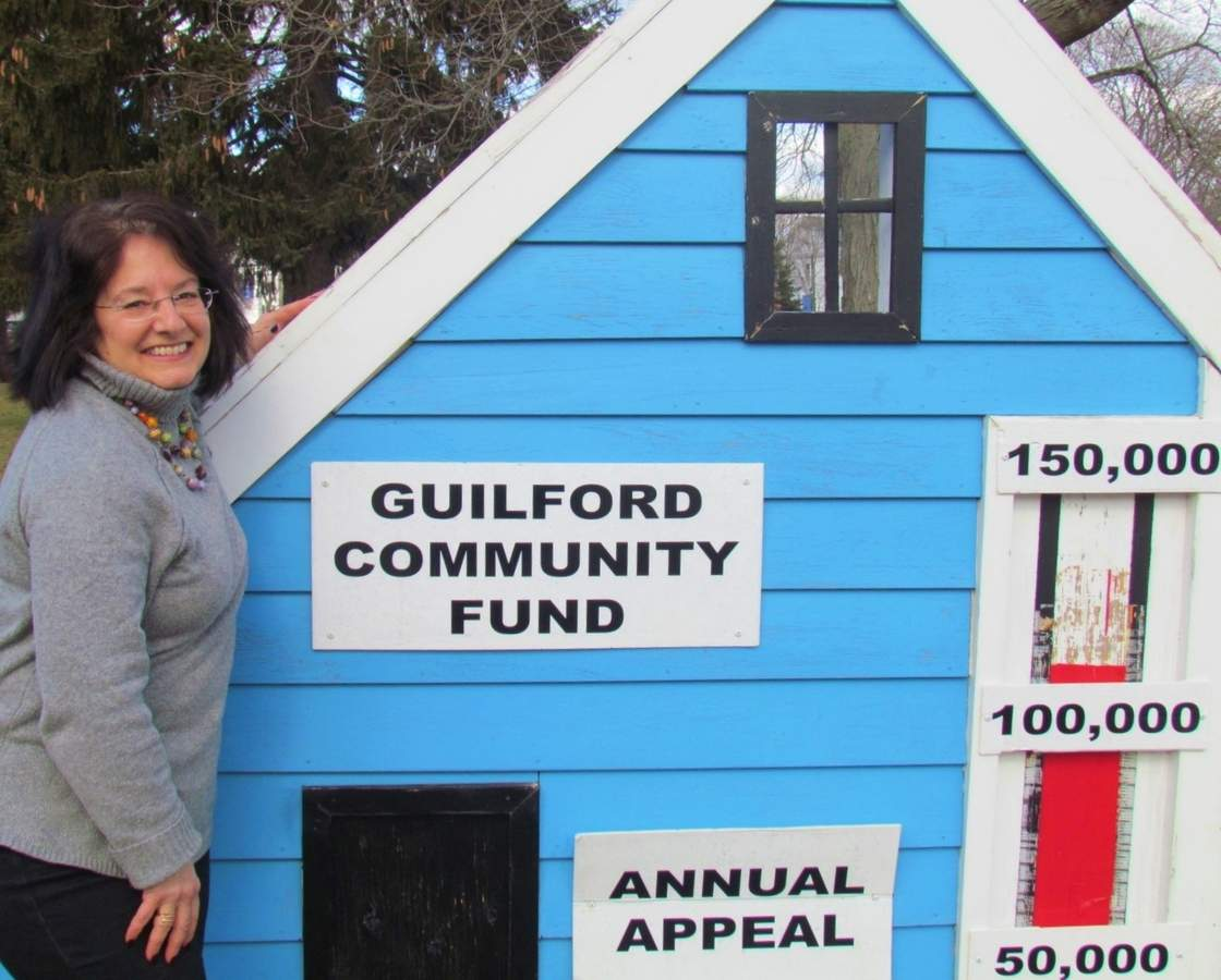 Fran Wainer is co-chairing the Guilford Community Fund's Valentine Dance on Saturday, Feb. 10 at the Knights of Columbus Hall. Proceeds will help GCF send out its annual community appeal, now underway, which helps support 22 shoreline agencies each year. Photo by Pam Johnson/The Courier
