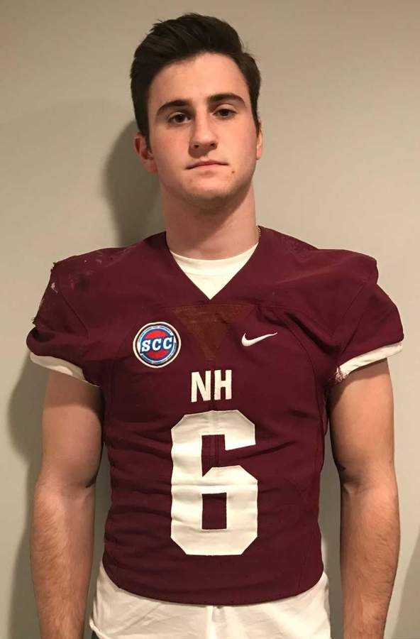 Mark Montano wrapped up his career with the North Haven football team by having an excellent senior season at both quarterback and defensive back for the Indians, while guiding the squad to a spot in the Class L State Playoffs. Photo courtesy of Mark Montano