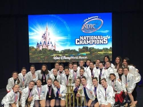 The Walsh Intermediate dance team was smash hit at the National Dance Team Championships at Walt Disney World by claiming first in the Middle School Kick Division for the fourth time, while its hip-hop squad finished third. Pictured from the team are (front) Taylor Tracy, Sophia Berdon, Adrianna Barretta, Bryanna Lye, Emma Angelo, Isla Lionetti, Anna Perricone, Mallory Baughman, and Lucy Loftis; (middle) Jessica Piazza, Jillian Vandale, Bella Kopczuk, Dominique Smith, Avery Clouse, Kylie Butler, Giuliana Discher, Ava DeMilo, Mia Borzillo, Merideth Rebmann, Izzy Brancati, Isabela Iagrossi, Kaitlyn Butler, and Sadie Zalewski; (back) Adrianna Ramos, Samantha Iagrossi, Fiona Brunson, Skylar Dunn, Caroline Chasse, Jalessa Rivera, Head Coach Jaime Sebring, assistant coach Jenna Juliano, and assistant coach Julia Goodwin. Missing form the photo is Paloma Bandyo, Photo courtesy of Cara Borzillo