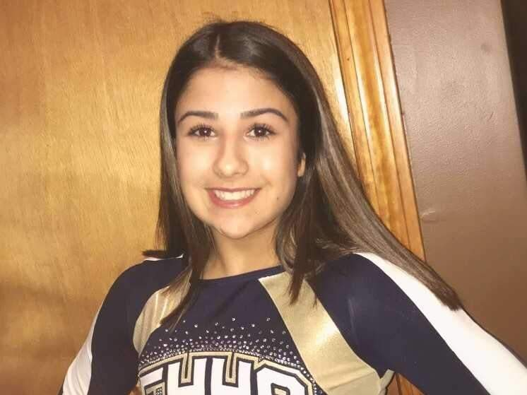 Freshman Natalia Gentile received All-SCC and All-State honors in her first season with the East Haven cheerleading team this year. Photo courtesy of Natalia Gentile
