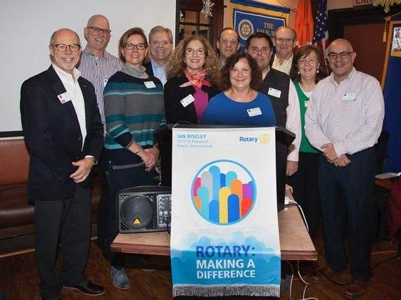 From left are Phil Carloni, Andy Marlatt, Dr. Susan Marlatt, Chip Marsh, Ellen Carucci, Robert Friend, John Altavilla, Hap Storer, Marilyn Altavilla, and Jon Savona. Photo by Tricia Bohan