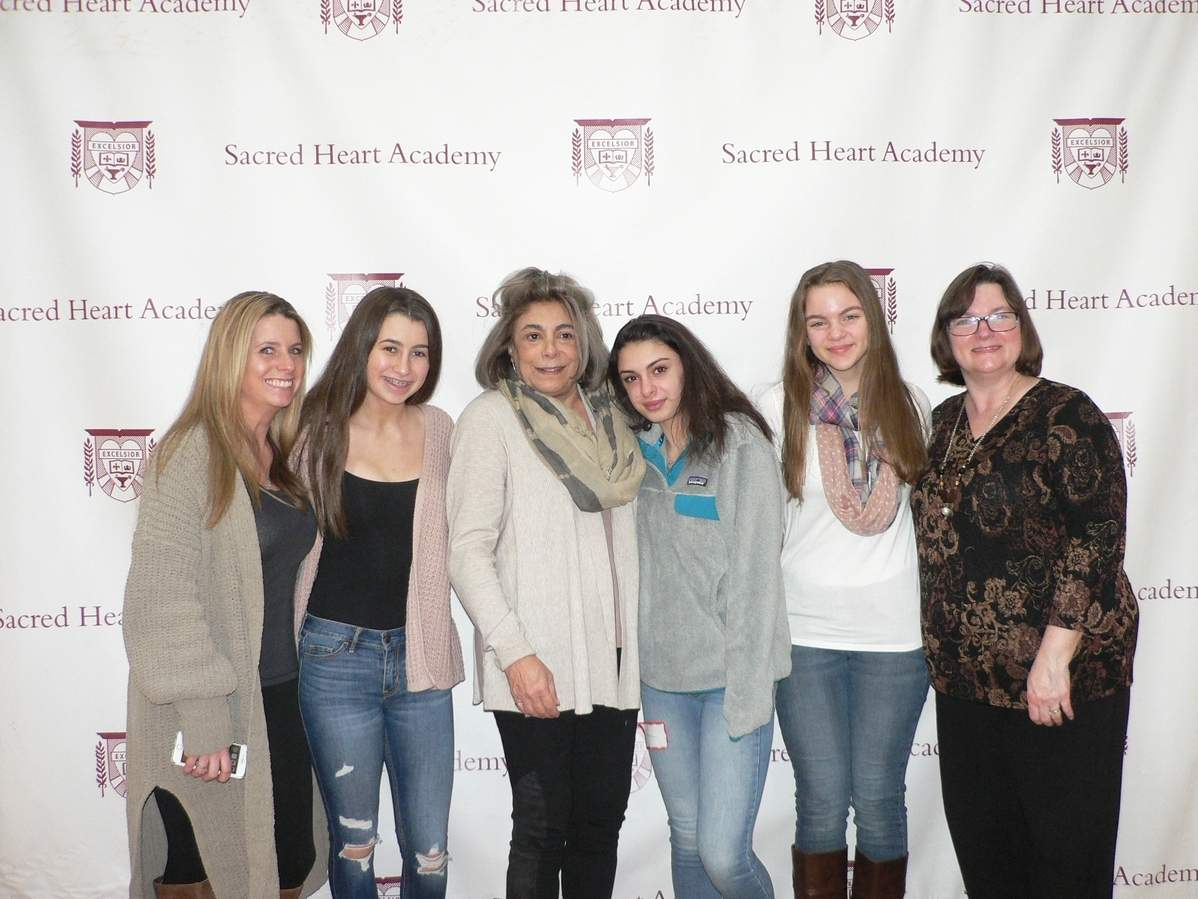 North Haven residents following in their mothers' and/or grandmothers' footsteps were recognized at the recent Class of 2022 Orientation at Sacred Heart Academy. From left are Cori Campion '98 with her daughter Hayly Caruso '22, Breamand Gamberdella '68 with her granddaughter Alia Della Rocco '22, and Elizabeth Carchia with her mother Regina Heimann Carchia '88. Photo courtesy of Elizabeth Christophy