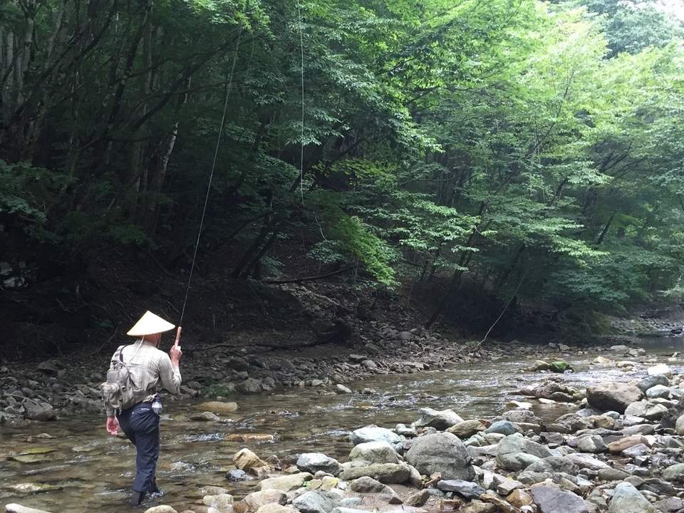 Old world Tenkara fishing opens the door for anglers to fish a different and productive method in the new world. Photo courtesy of Captain Morgan