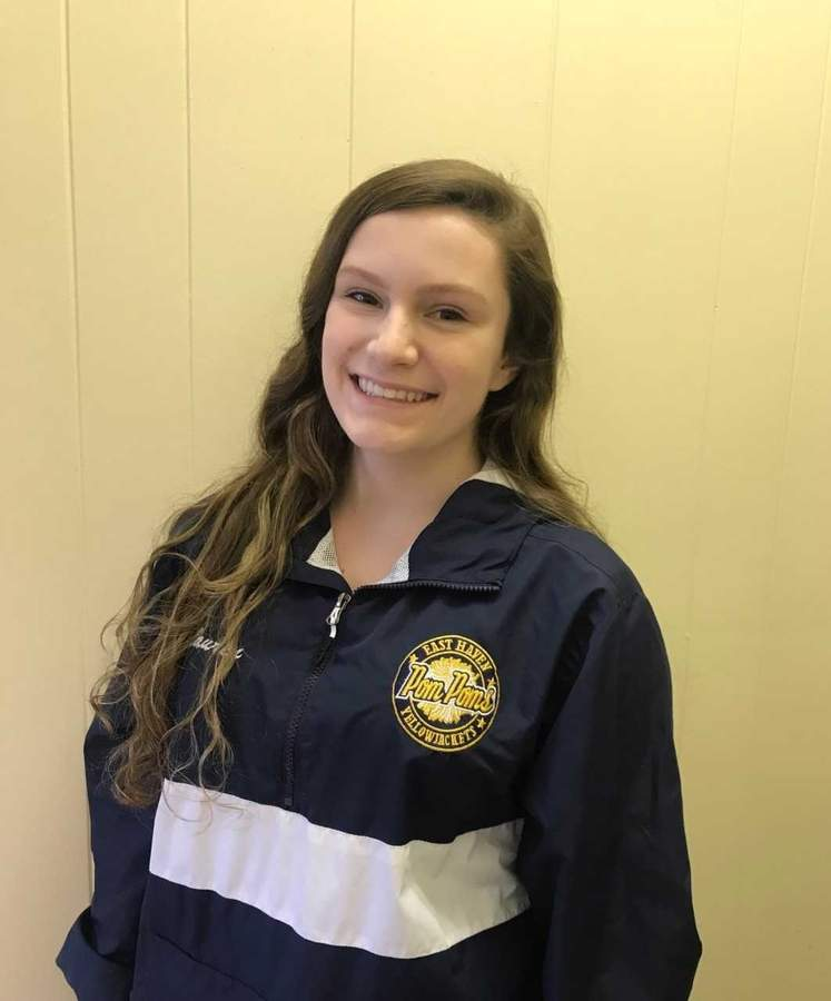 Lauren Scoopo earned a captain's role with the East Haven pom-pom team as a junior this year and has high hopes for what the squad can accomplish next season. Photo courtesy of Lauren Scoopo