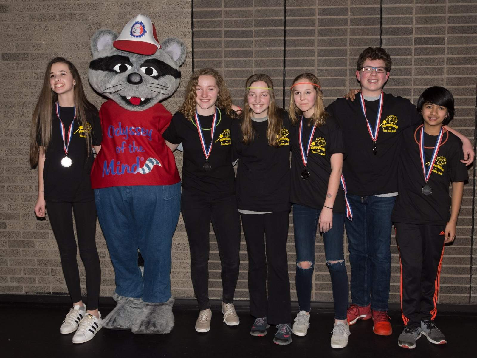 The Odyssey of the Mind Team from Polson Middle School placed second in their division at the CT competition.  They will be going to world finals in Iowa this May.  Team members pictured: Chloe Burt,Kelly Fay, Alanna Fay, Ella Bennett, Liam Lynch, Mahir Thadani. Not pictured: Coach Laura Lynch