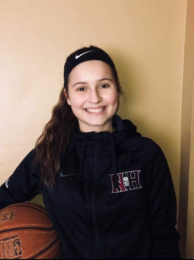 Sophomore Laura Petrafesa was named the Most Valuable Player for North Haven girls' basketball team this year and looks forward to leading the Indians as a captain next season. Photo courtesy of Laura Petrafesa