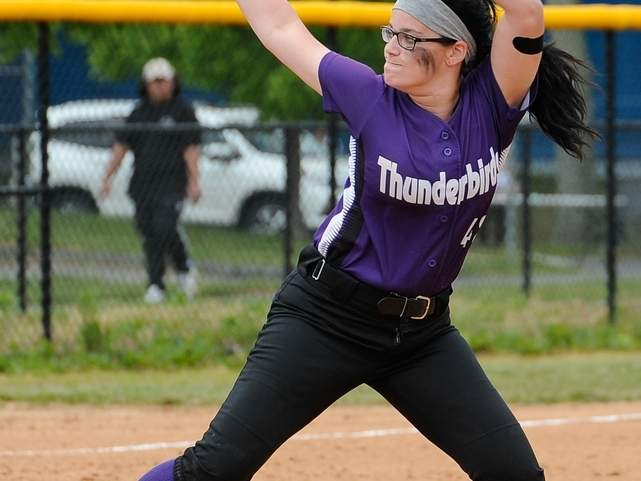 After earning 11 wins on the mound last year, senior captain Sydney Senerchia will once again be relied upon to pitch big games for North Branford softball team this spring. The T-Birds have their sights set on having another big season in 2018. Photo by Kelley Fryer/The Sound