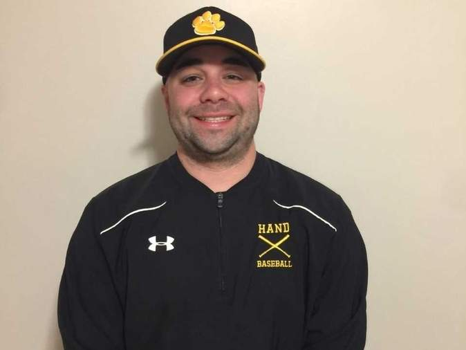 After spending the last two seasons as its JV coach, Kyle Heins is the new varsity assistant for the baseball team at Daniel Hand High School this spring. Kyle, a North Haven resident, is also an assistant coach for the Indians' boys' ice hockey squad and will begin his first year as head coach of the Branford Senior American Legion baseball team this summer. Photo courtesy of Kyle Heins