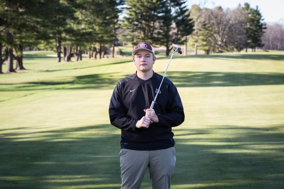 Ian Crowther has been a regular on the golf course for several years, and now he's a fixture on the North Haven High School golf squad. Photo courtesy of Ian Crowther