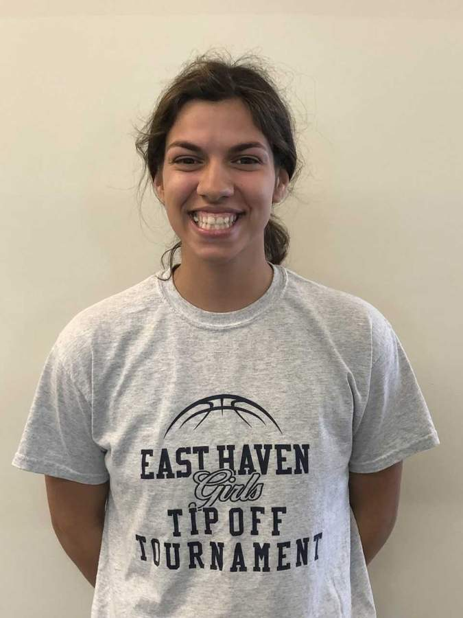 Olivia Coyle tore the same meniscus twice during the last year, but she returned in the nick of time to help the East Haven girls' basketball team capture its first state title in program history. Photo courtesy of Olivia Coyle