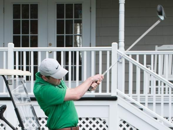 Senior captain James Marks is proving a solid No. 1 player for the Guilford golf team, which is sporting a record of 12-1 on the campaign. Photo by Kelley Fryer/The Courier