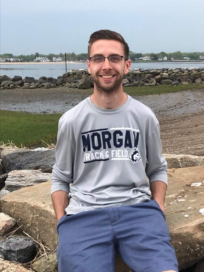 Clinton resident Jared Stevens is making a big impact on the track program at Morgan. Jared spent three seasons as an assistant coach for the Huskies' indoor teams and is now in his second year as head coach of the Morgan girls' outdoor track squad. Photo courtesy of Jared Stevens