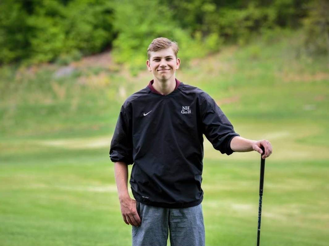 Alex Kirtland plays both ice hockey and golf for the Indians. As a member of the golf team, the junior captain has garnered medalist honors on multiple occasions this spring. Photo courtesy of Daria Cummings