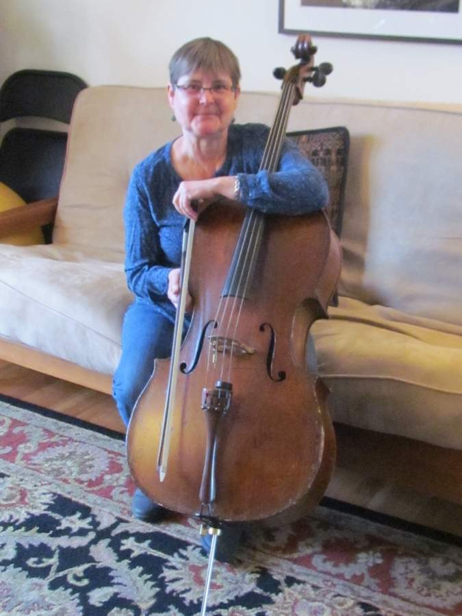 Cellist Patti Smith-Romanski will be joined by three of her music professional friends to perform Joyful Noise! A Concert of Cellos at her hometown church Sunday, Feb. 10 at 4 p.m. The concert takes place at Guilford First Congregational Church. Photo by Pam Johnson/The Courier