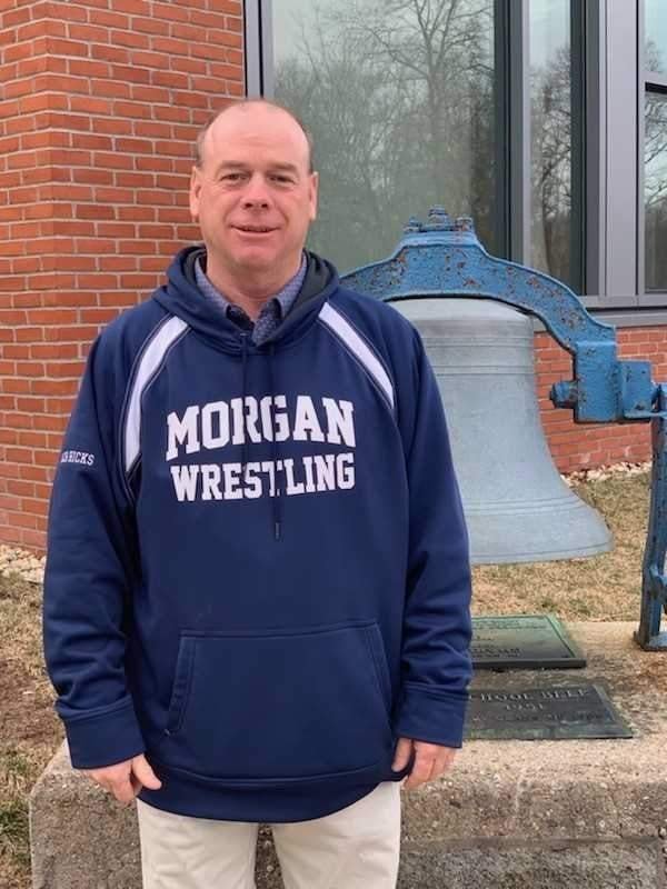 Lifelong Clinton resident Darren Hicks is helping a young, close-knit bunch of Huskies get better every day in his first campaign as head coach of the Morgan wrestling team.  Photo courtesy of Darren Hicks