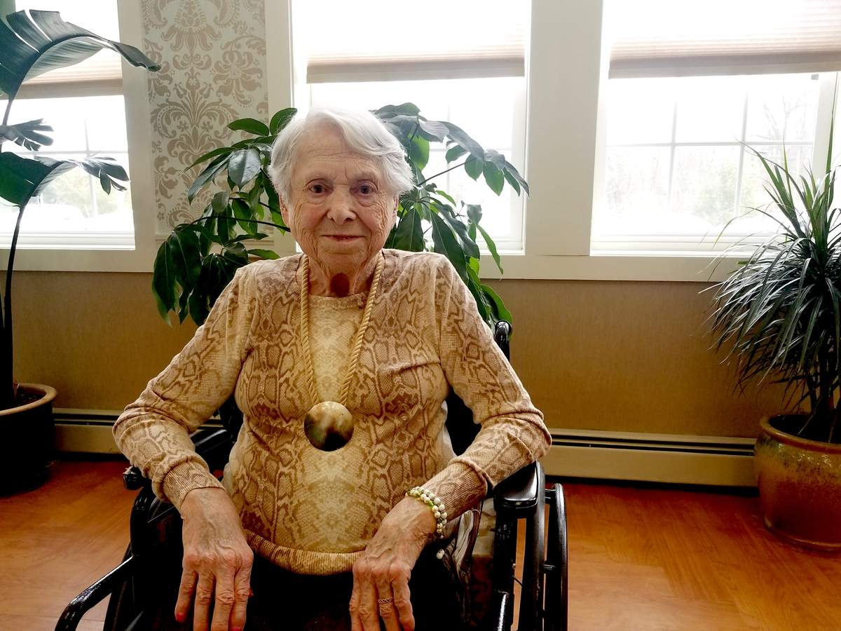 Madelyn Murano started her career in nursing during World War II, but while her field changed over time, her love of caring for others has remained.  Photo by Nathan Hughart/The Courier