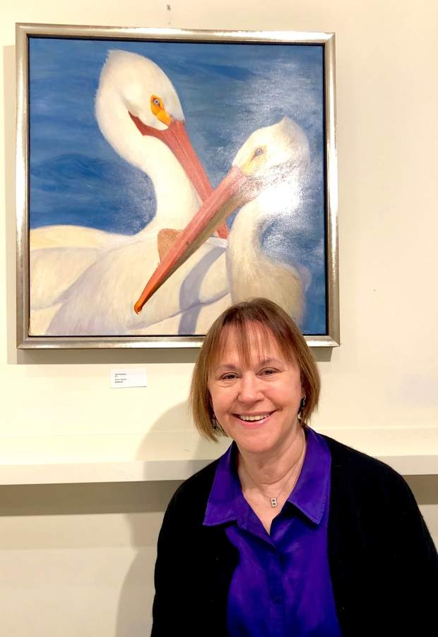 Barbara Nair, director of Spectrum Gallery in Centerbrook and Arts Center Killingworth, looks forward to future growth for her arts organization.  Photo by Margaret McNellis/The Courier
