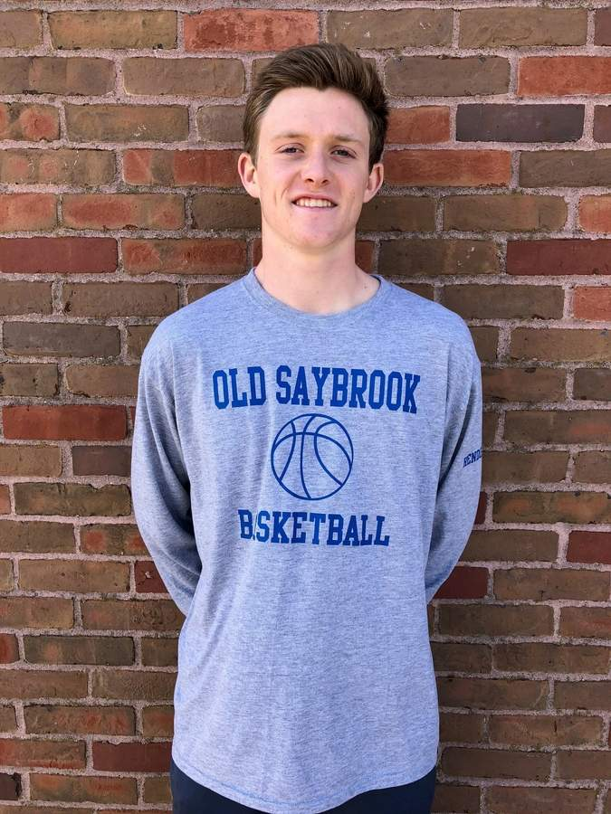 Senior captain guard Shane Henderson set the Old Saybrook boys' basketball team's record for career points scored with a total of 1,603. Henderson was also named the Shoreline Conference Player of the Year and earned All-State accolades this winter. Photo courtesy of Shane Henderson