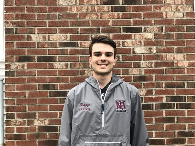 Senior Jack Broggi is taking up the captain's helm for the North Haven boys' lacrosse team this season. In his fourth season playing on the varsity squad, Jack, an attacker/midfielder, already has 12 goals with eight assists on the year. Photo courtesy of Jack Broggi