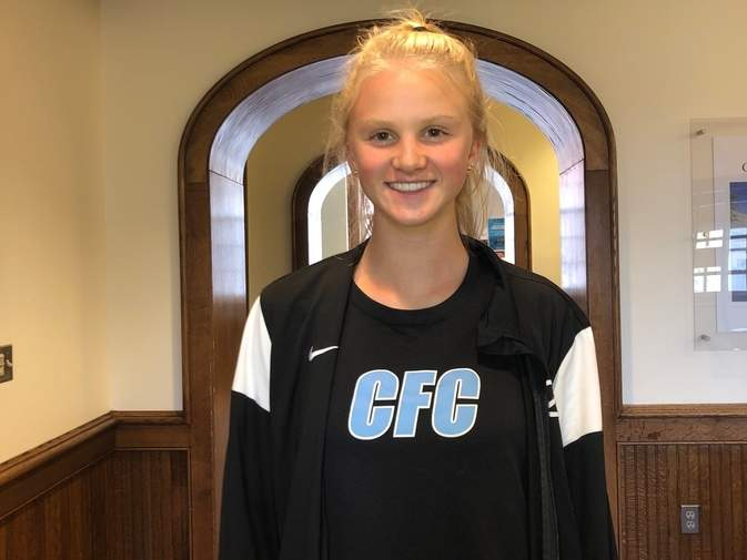 Clinton resident Erin Martin had an outstanding junior year for the Choate girls' soccer squad and has already committed to play soccer at Division I level at Georgetown University. Photo courtesy of Erin Martin