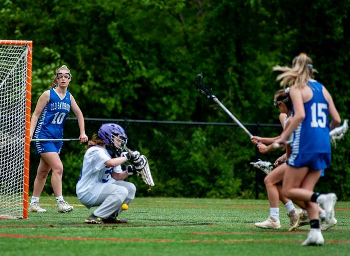 Junior goalkeeper Carly Sorrentino came up huge by making 12 saves when North Branford beat Old Saybrook in the Shoreline Conference championship game last week. Photo by Susan Lambert/The Sound