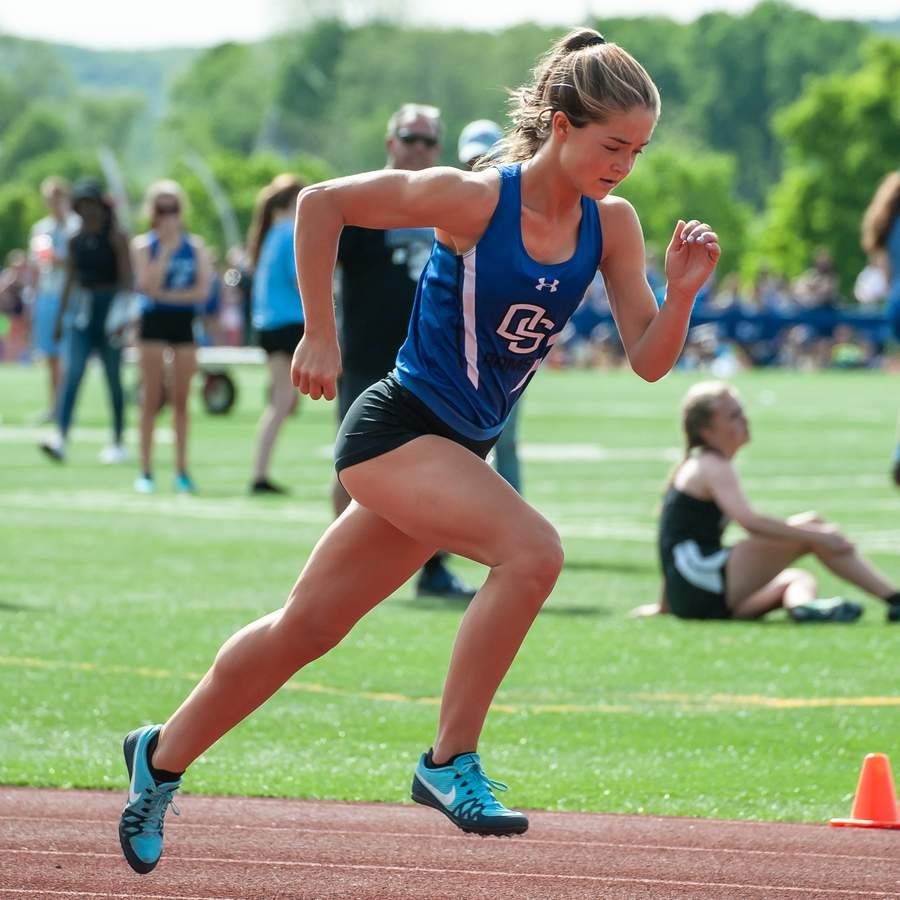 Junior Grace Hanratty took first place in the 800-meter run with a time of 2:12.33 at the State Open Championship at Willow Brook Park on June 3. The Rams came in 15th place overall by scoring 15 points as a squad. File photo by Kelley Fryer/Harbor News