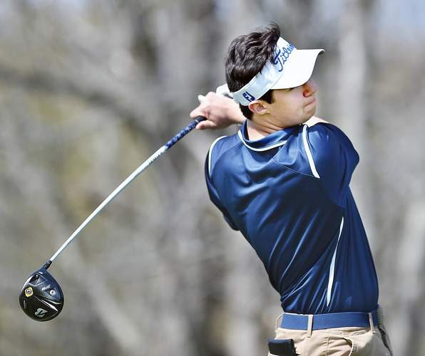 Senior Ryan Powers and the Morgan golf team came in 10th place at the Division IV State Championship that took place at Tallwood Country Club in Hebron on June 3. Powers turned in the Huskies' best score with a round of 83. File photo by Catherine Avalone/Harbor News