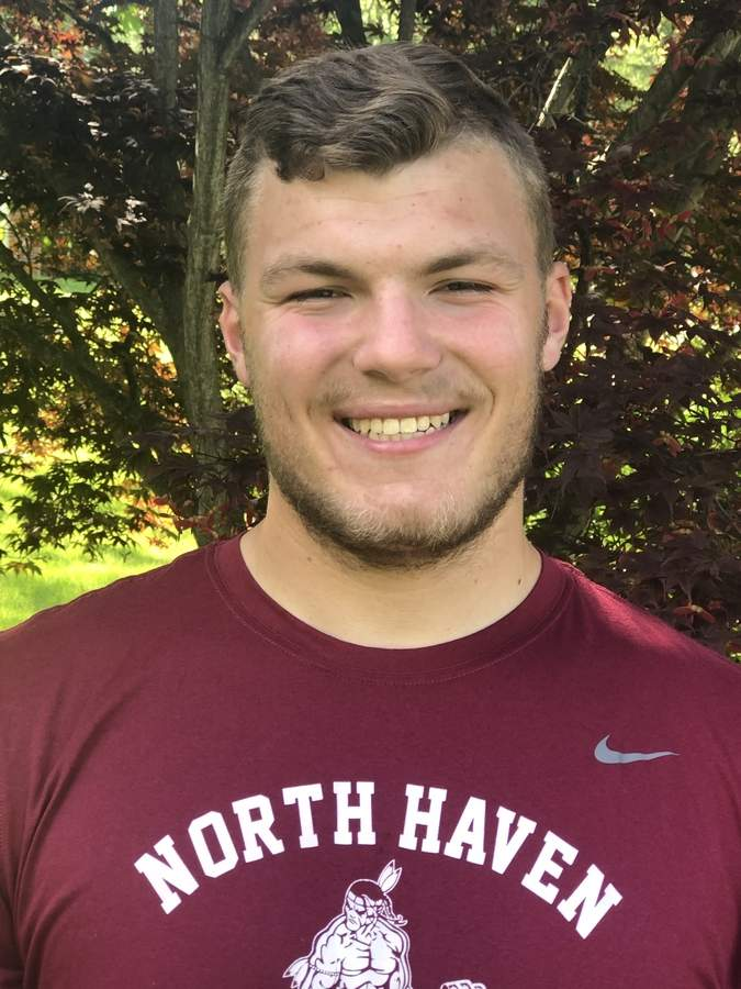 Junior Luke Maruca was motivated to make his mark in the shot put this spring and did exactly that by recording a personal-best throw during a third-place performance at the Class MM State Championship. Photo courtesy of Luke Maruca