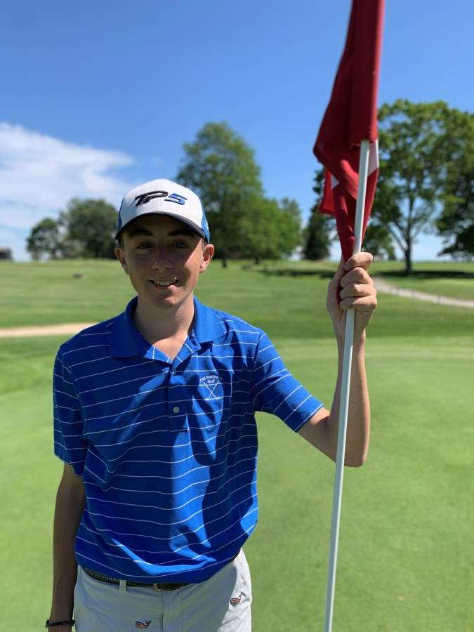 Junior captain Jack Walsh made All-Shoreline and All-State while helping the Old Saybrook golf squad enjoy a successful season on the links this spring. Photo courtesy of Jack Walsh