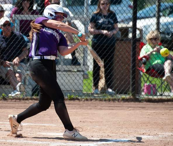 Junior Kayla Despres batted .425 and solidified a spot on the All-Shoreline Conference First Team for North Branford this year. File photo by Kelley Fryer/The Sound
