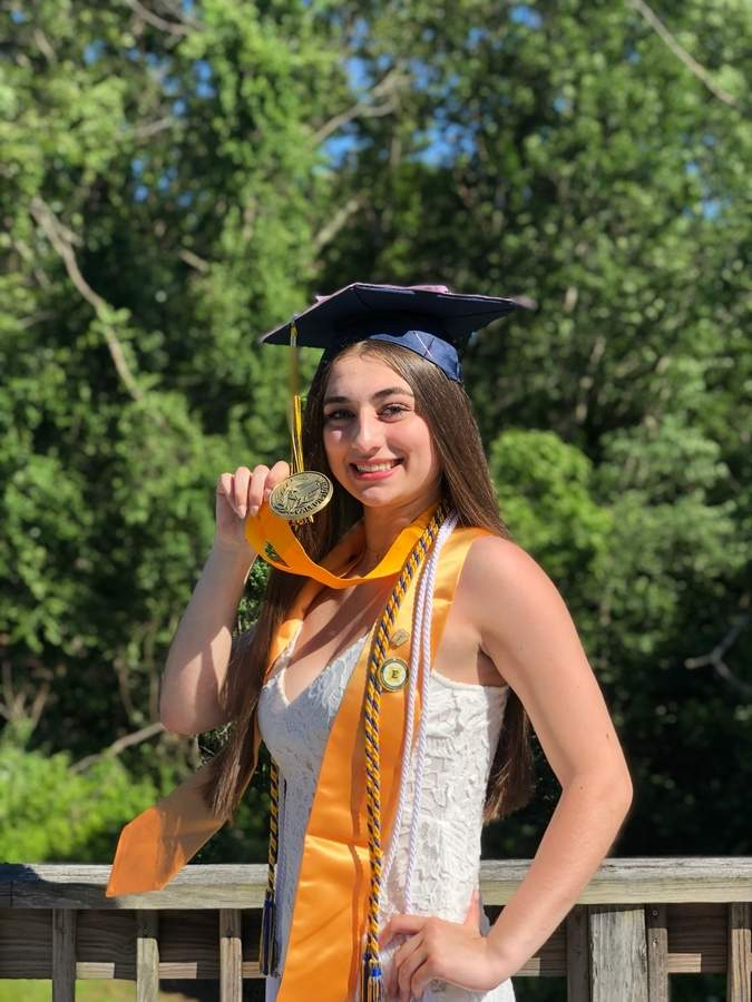Valedictorian Cameron Cordaway is off to represent East Haven High School at the University of Connecticut, where she will bring lessons learned from pain and triumphs at school.  Photo courtesy Cameron Cordaway