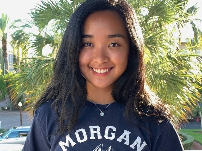 Bea Atengco led the Morgan girls' tennis team as a senior captain while playing the No. 2 doubles position for the Huskies this spring. Photo courtesy of Bea Atengco
