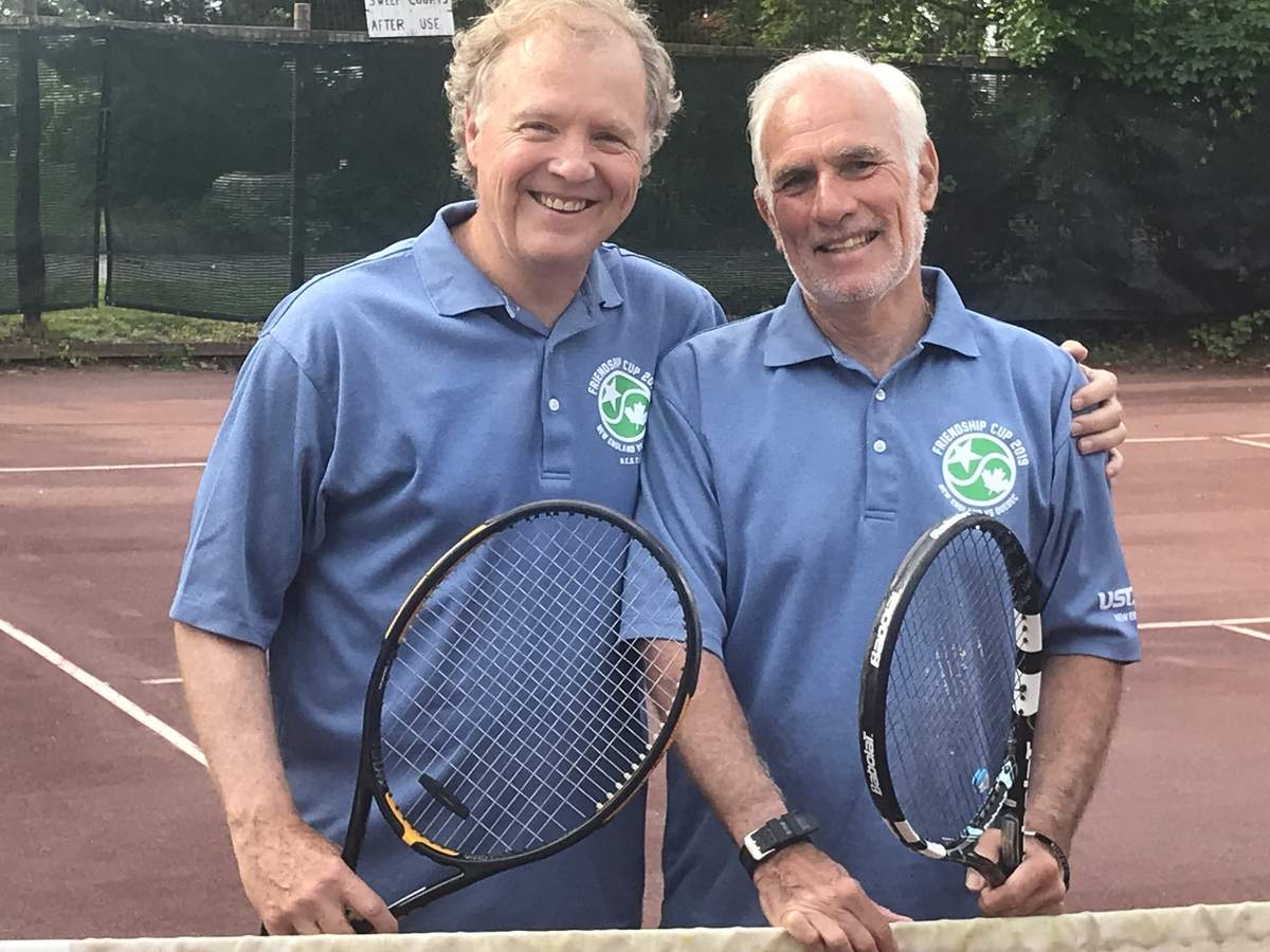 Branford's Peter MacPartland and Carl Norbeck helped the USTA's New England team reclaim the Friendship Cup from Canada by notching victories in their respective doubles matchups. Photo courtesy of Peter MacPartland