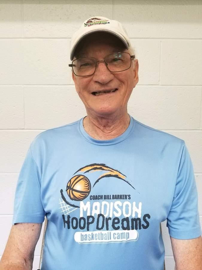 Bill Barker is the founder of Madison Hoop Dreams, an organization that has supported a variety of community organizations and scholarships over its 26 years.  Photo courtesy of Tammy Boris
