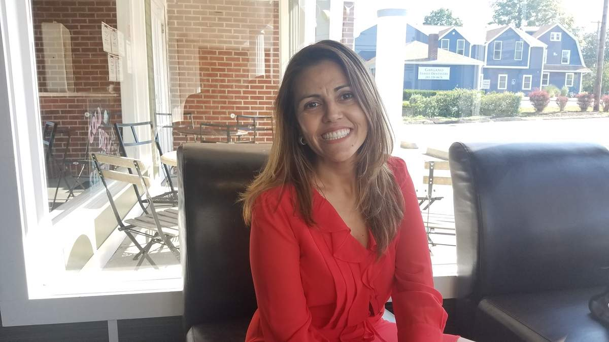 Diversity is important to Isabel Alvarez Galeano. That's partly why she helped connect the North Haven Rotary Club to her hometown in Colombia.  Photo by Nathan Hughart/The Courier