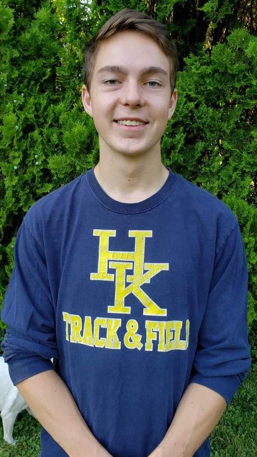 Senior captain Tyler Knapp completed his career with Haddam-Killingworth track by qualifying for the State Open in the pole vault with a third-place performance at the Class M State Championship this spring. Photo courtesy of Tyler Knapp