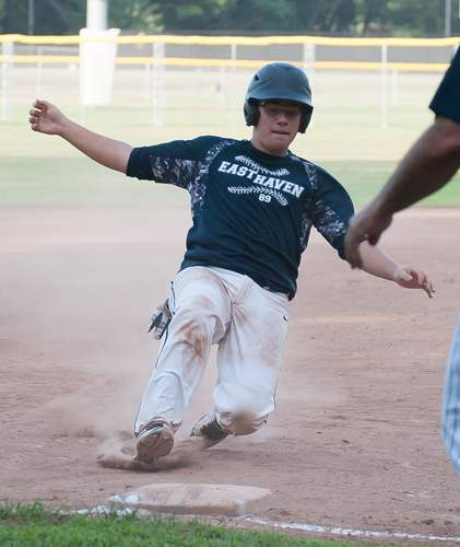 Mike Streeto and the East Haven Senior Legion baseball team took a few defeats to finish out the 2019 season. Streeto had a productive series at the plate when the 89ers took on Branford during the final week. File photo by Kelley Fryer/The Courier