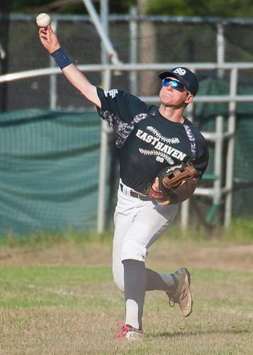 Frank Camera and the East Haven Senior Legion squad posted a mark of 3-23 in their first year with Head Coach Chuck Hinckley. File photo by Kelley Fryer/The Courier